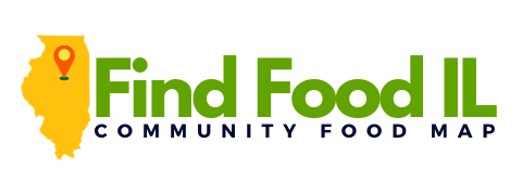 find food in Illinois community food map